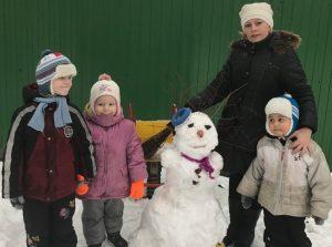 Снежная баба с фантазийной прической